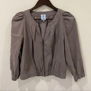 (3/$25) MOONLIGHT Cropped Ruched Bomber Jacket XL